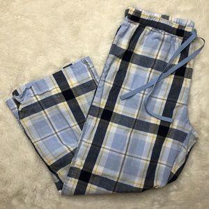 Joe Fresh Capri Pajama Pants Blue & White Size XS